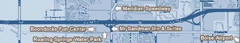 Mr Sandman Inn & Suites is near many points of interest including Roaring Springs Water Park, Wahooz Family Fun Zone, Meridian Speedway, and the Boise Airport.